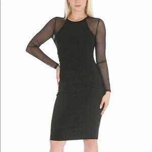 bebe Women's Long Sleeve Bodycon Sheath Dress